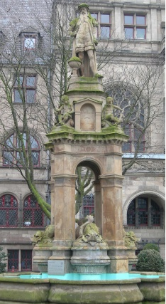 Mercator-Brunnen in Duisburg