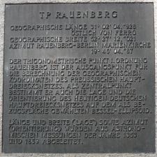 Plaque at TP Rauenberg