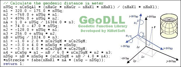 GeoDLL - Geodetic Software Developer Kit for coordinate transformations and more