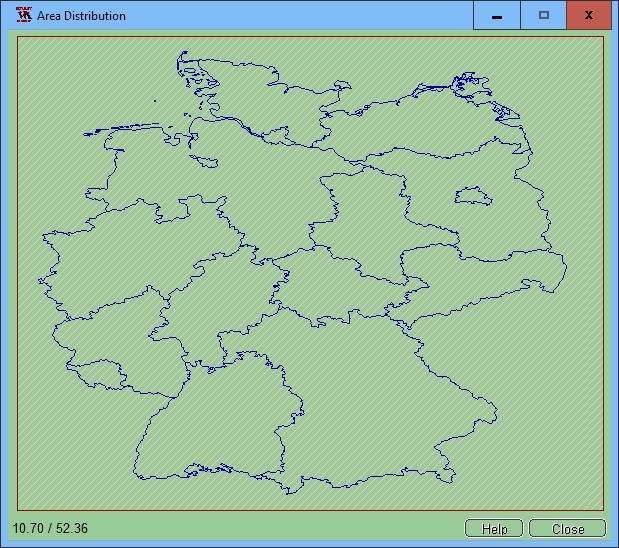Area Distribution as an example of Germany